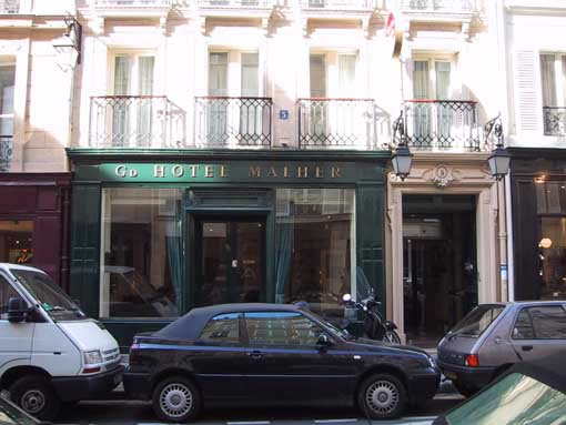 Grand Hôtel Malher Paris