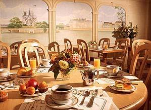 Salle petit déjeuner Champerret Elysées Hôtel Paris