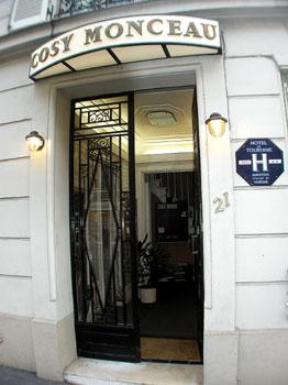 Entrée Hôtel Cosy Monceau Paris