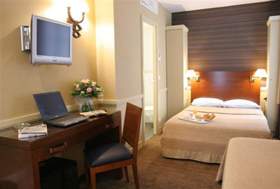 Chambre Hôtel Longchamp Elysées Paris