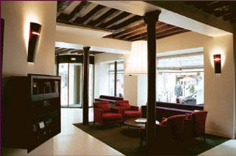 Hall accueil Hôtel Axial Beaubourg Paris
