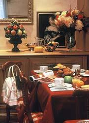 Salle petit déjeuner Hôtel de Sévigné Paris