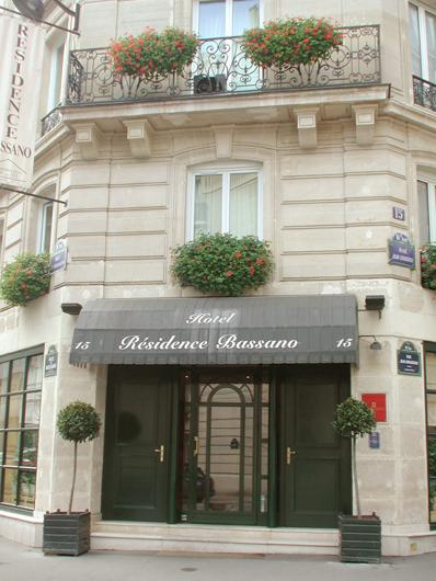 Hôtel Résidence Bassano Paris