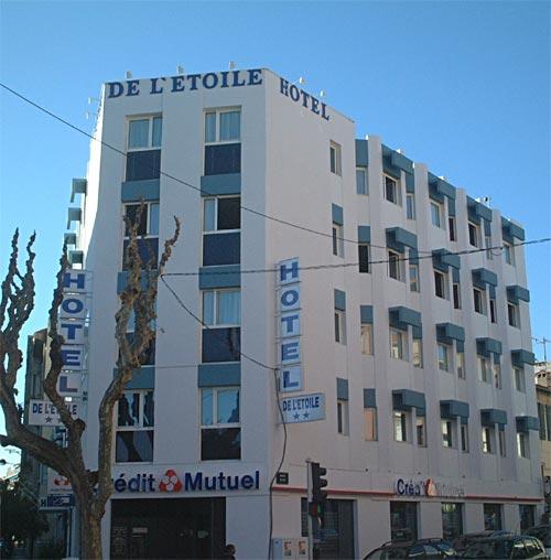 Façade Hôtel de L'Etoile Antibes Juan Les Pins