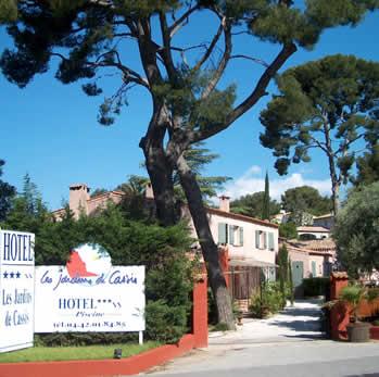 Entrée Hôtel Jardins de Cassis Cassis