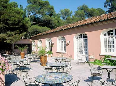 Terrasse Hotel Mazets des Roches Tarascon