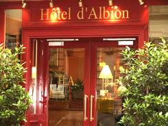Entrée Hôtel d'Albion Paris